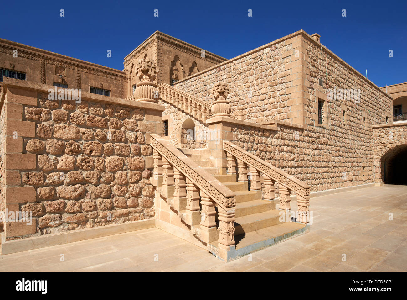 Mor Gabriel Monastery, the oldest living Syriac Orthodox monastery in the world and home to the archbishop of Tur Abdin - Stock Image