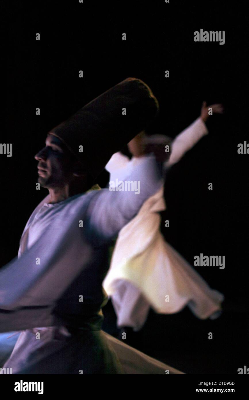 Sufi dance night - Stock Image