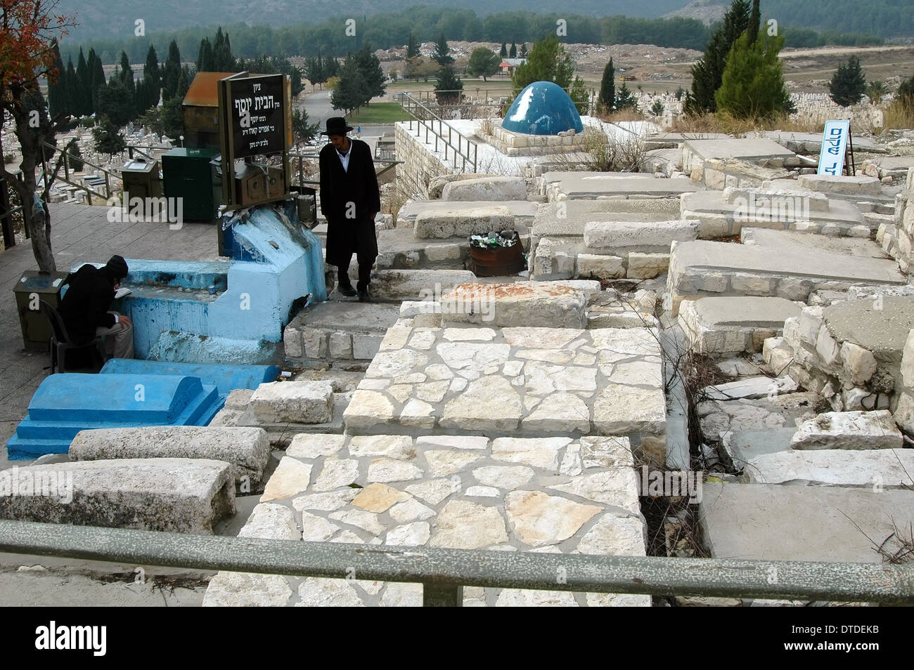 Righteous Tombs in Sefad, Israel - Stock Image