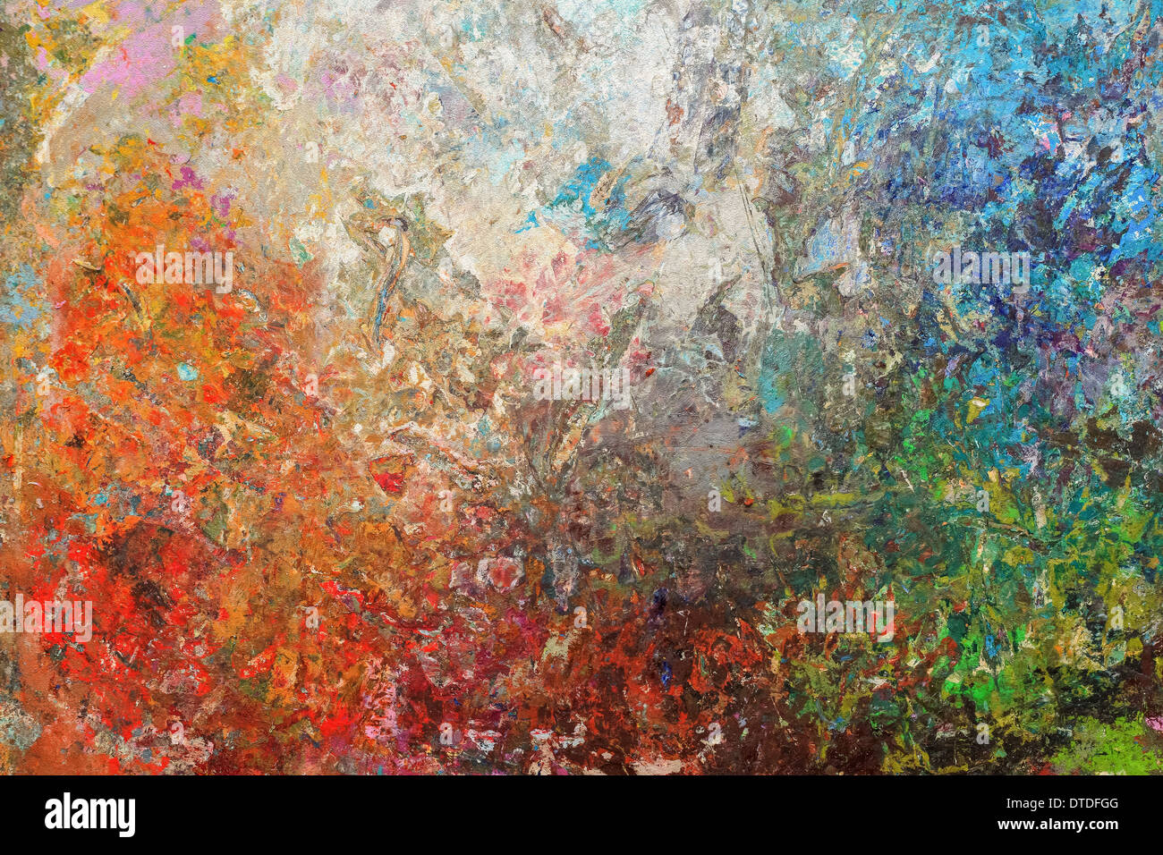 Board stained oil painting, abstract background - Stock Image