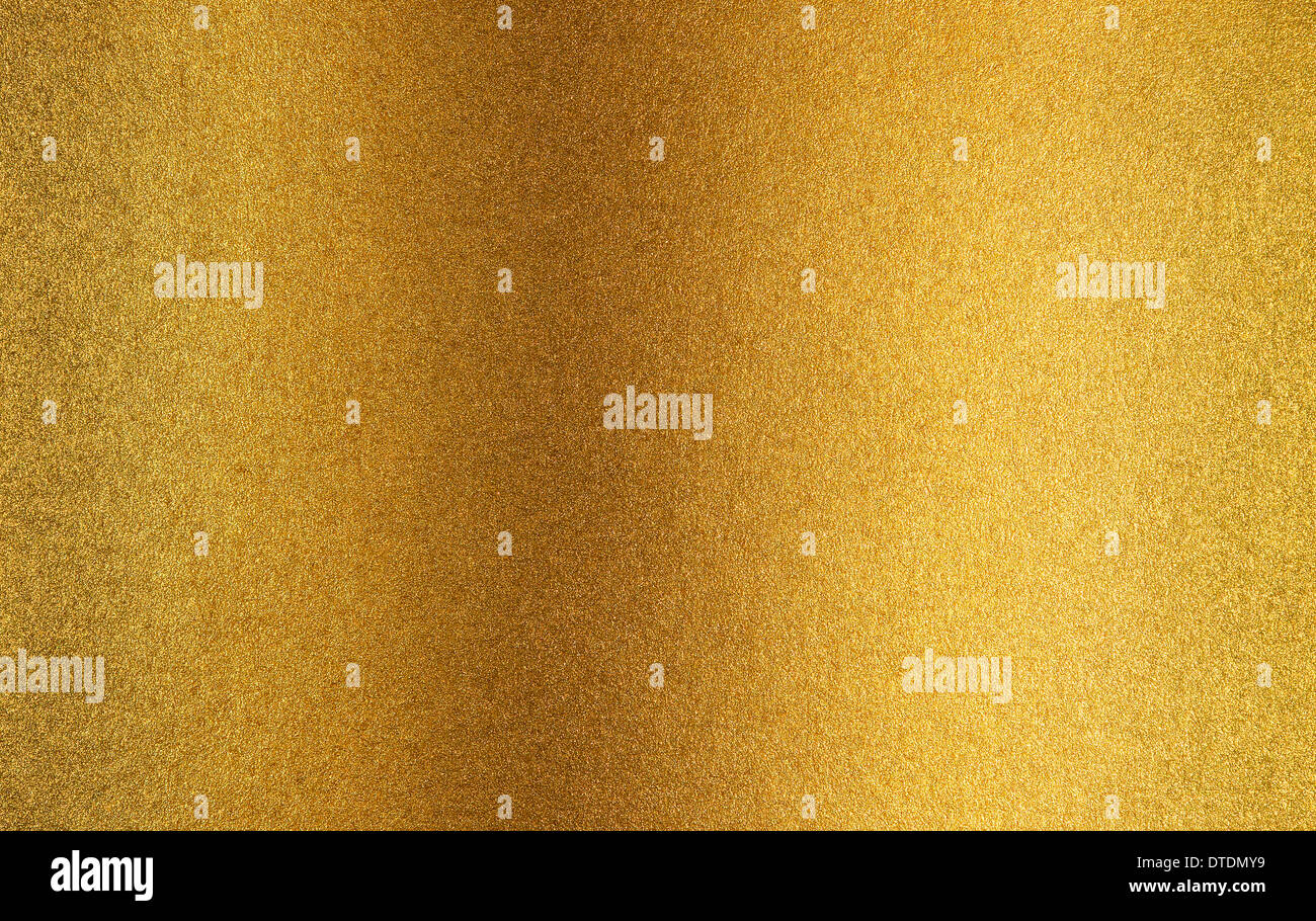 Gold metal background - Stock Image
