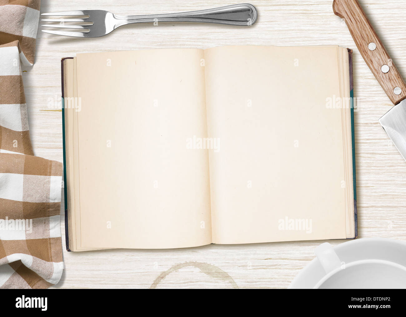 Kitchen table with open book or copybook as a background for cooking kitchen table with open book or copybook as a background for cooking recipe workwithnaturefo