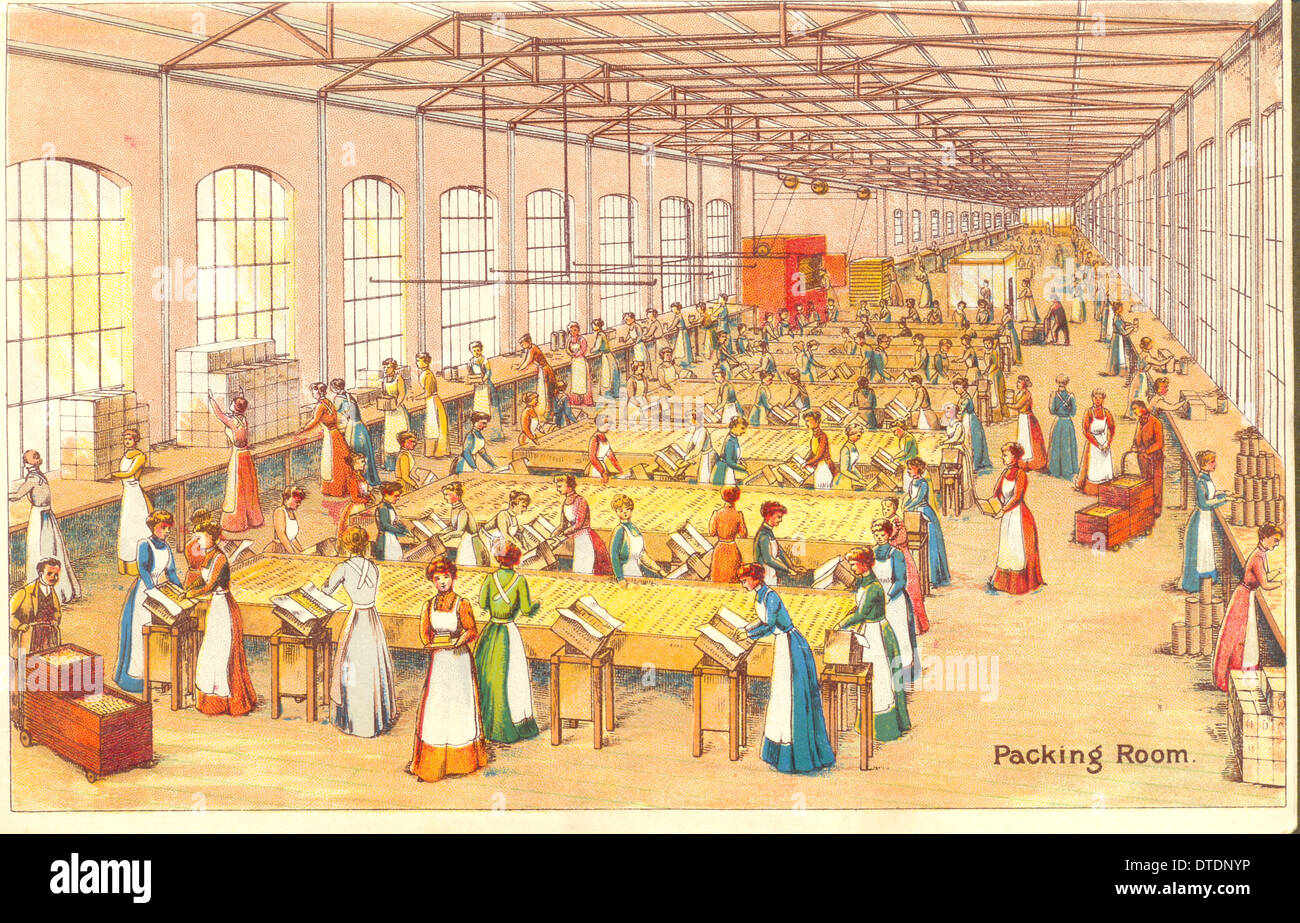 advertising leaflet for Meredith & Drew showing the Packing Room - Stock Image