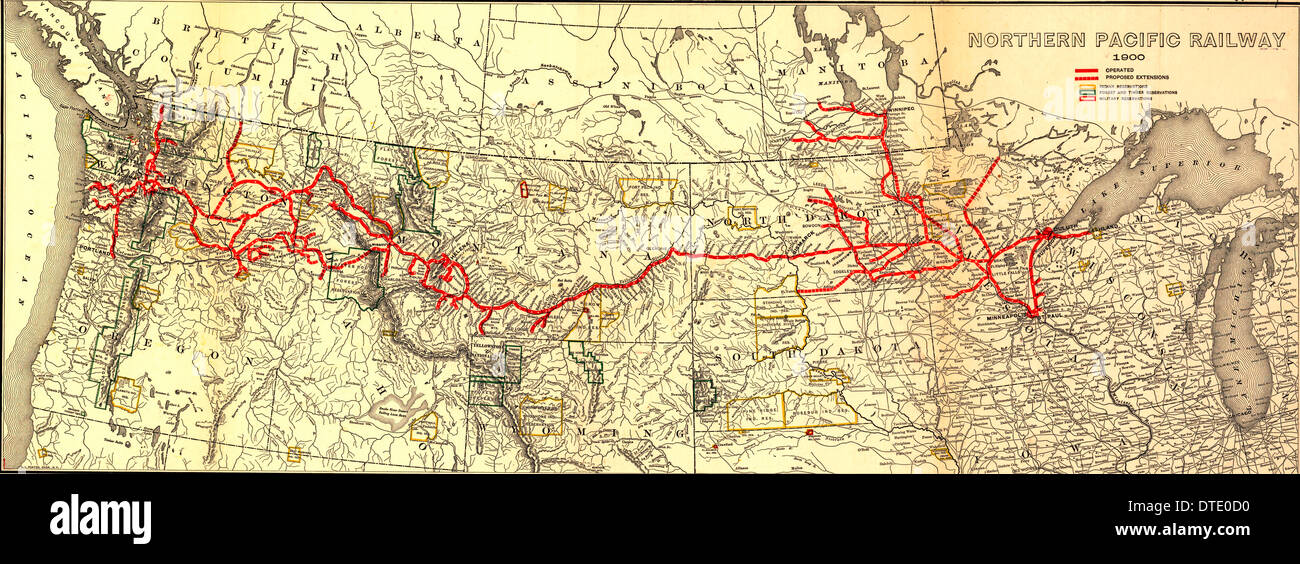 northern pacific railroad map Northern Pacific Railway High Resolution Stock Photography And northern pacific railroad map