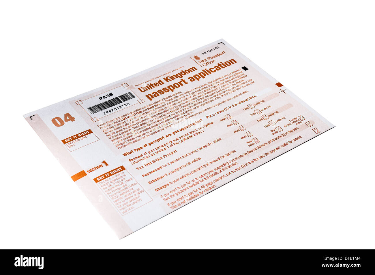 Uk Passport Application Stock Photos Uk Passport Application Stock