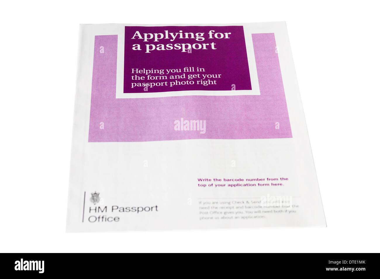 UK passport application form - Stock Image