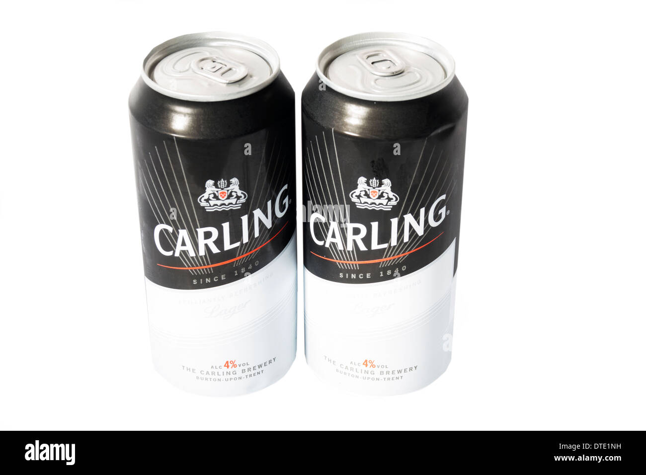 Two cans of Carling lager - Stock Image
