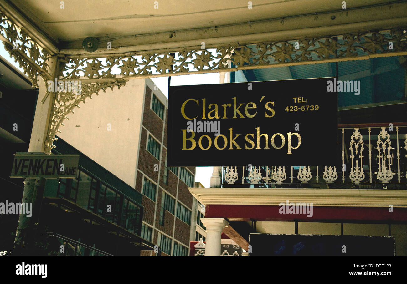 Clarke's Bookshop at 199 Long Street Cape Town is widely respected for its range of books on southern Africa - Stock Image