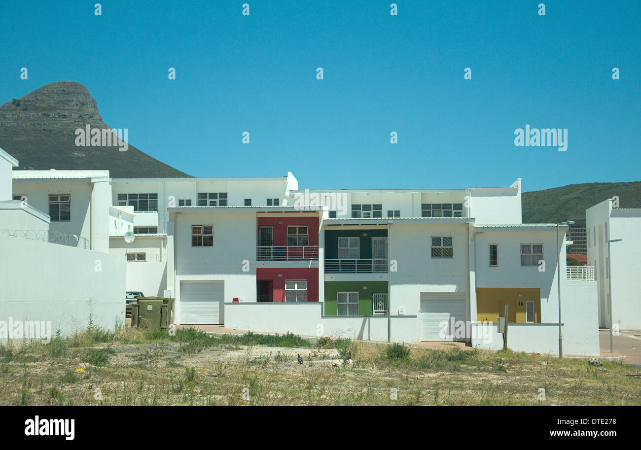 Where once was Cape Town's vibrant District Six, torn down during apartheid, its residents removed, is bland - Stock Image