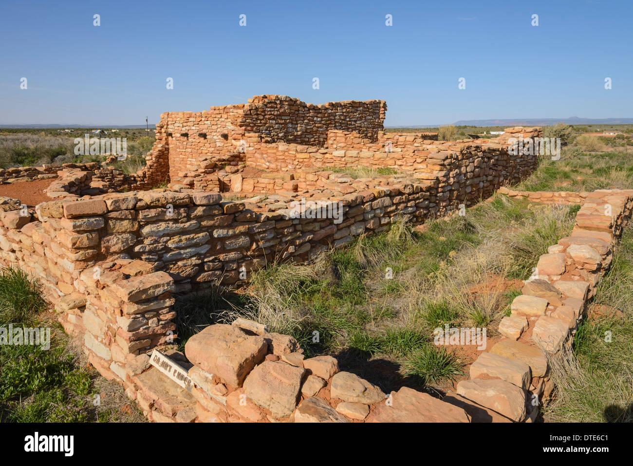 Indian Pueblo Ruins, Edge of the Cedars State Park, Cedar Mesa, Utah, USA - Stock Image