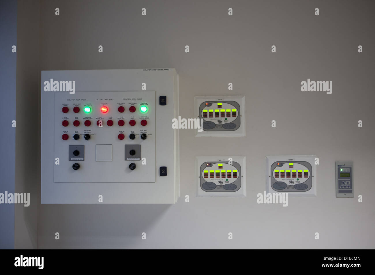 operating theatre medical gases monitor panel - Stock Image