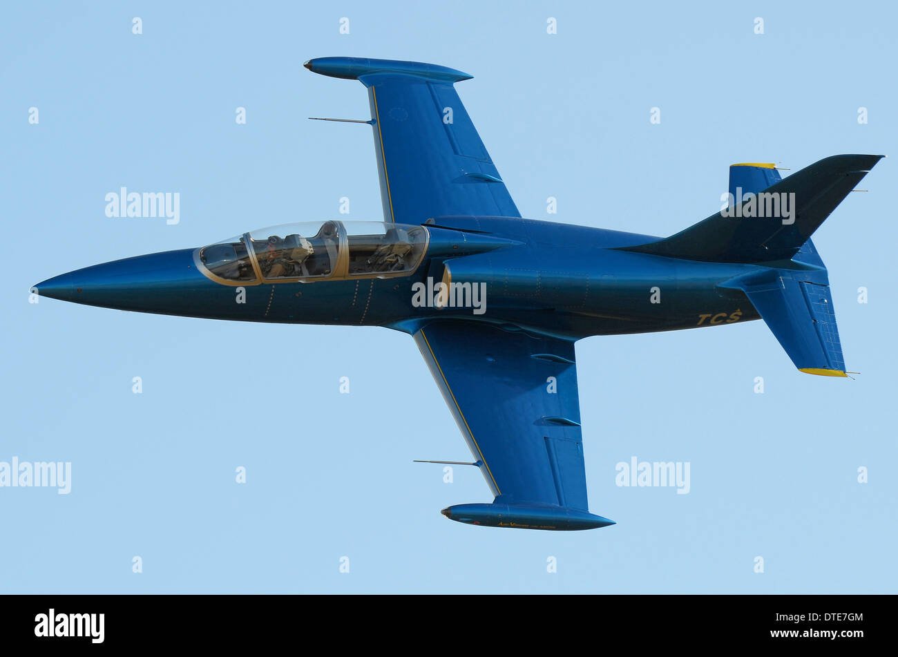 The Aero L-39 Albatros is a high-performance jet trainer aircraft developed in Czechoslovakia that first flew in 1969 - Stock Image