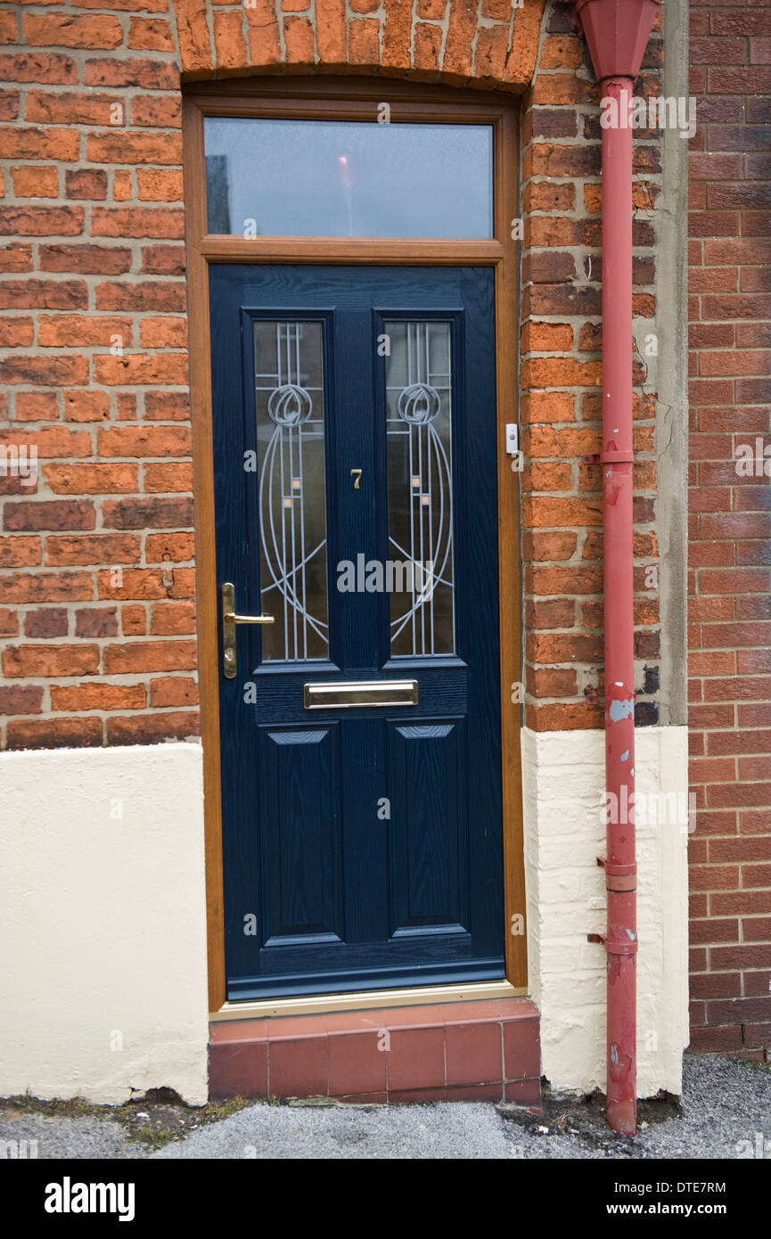 Attirant Blue Number 7 Front Door Of House In Scarborough North Yorkshire England UK