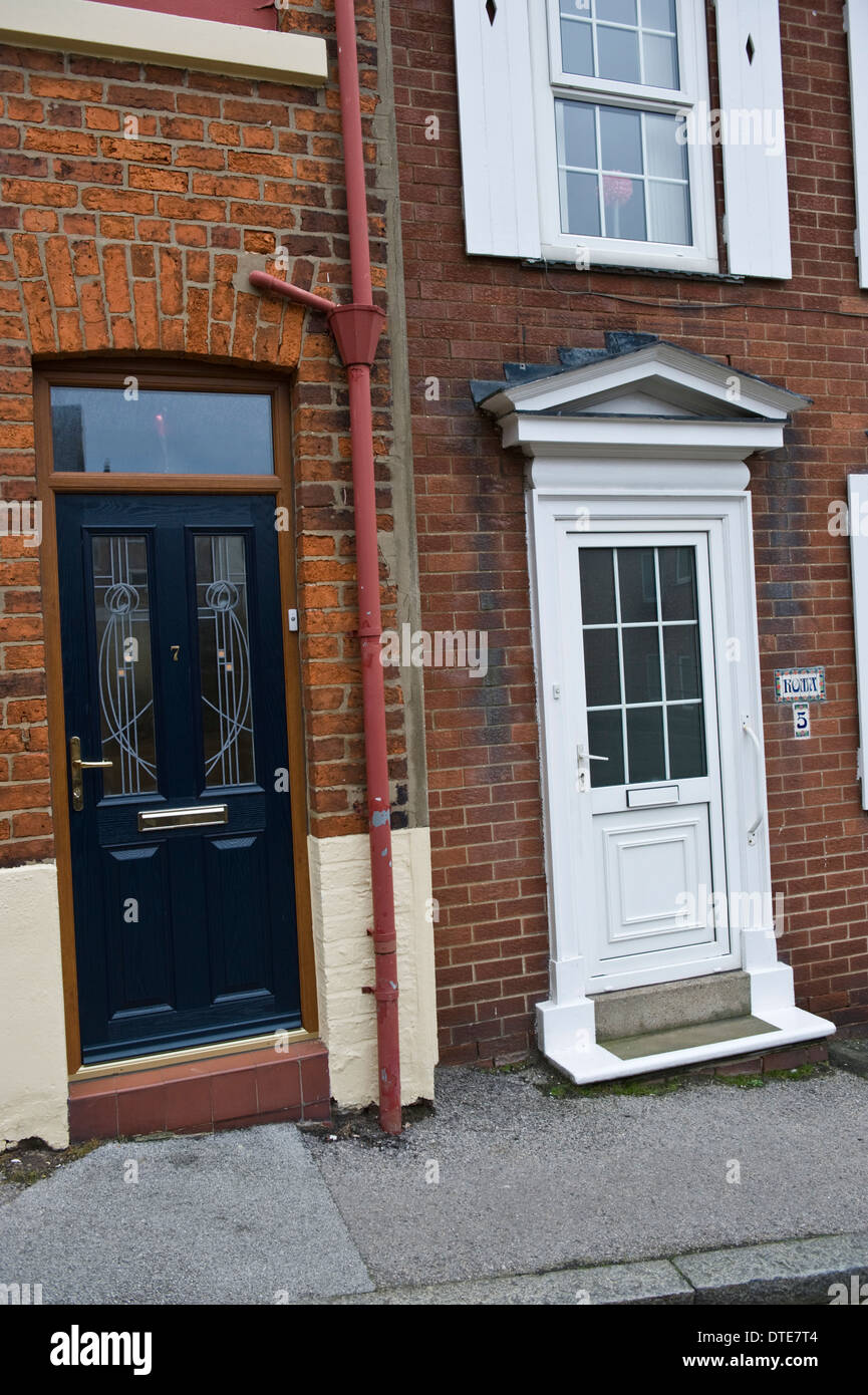 Blue Wooden Number 7 U0026 White Upvc Number 5 Front Doors Of Houses In  Scarborough North