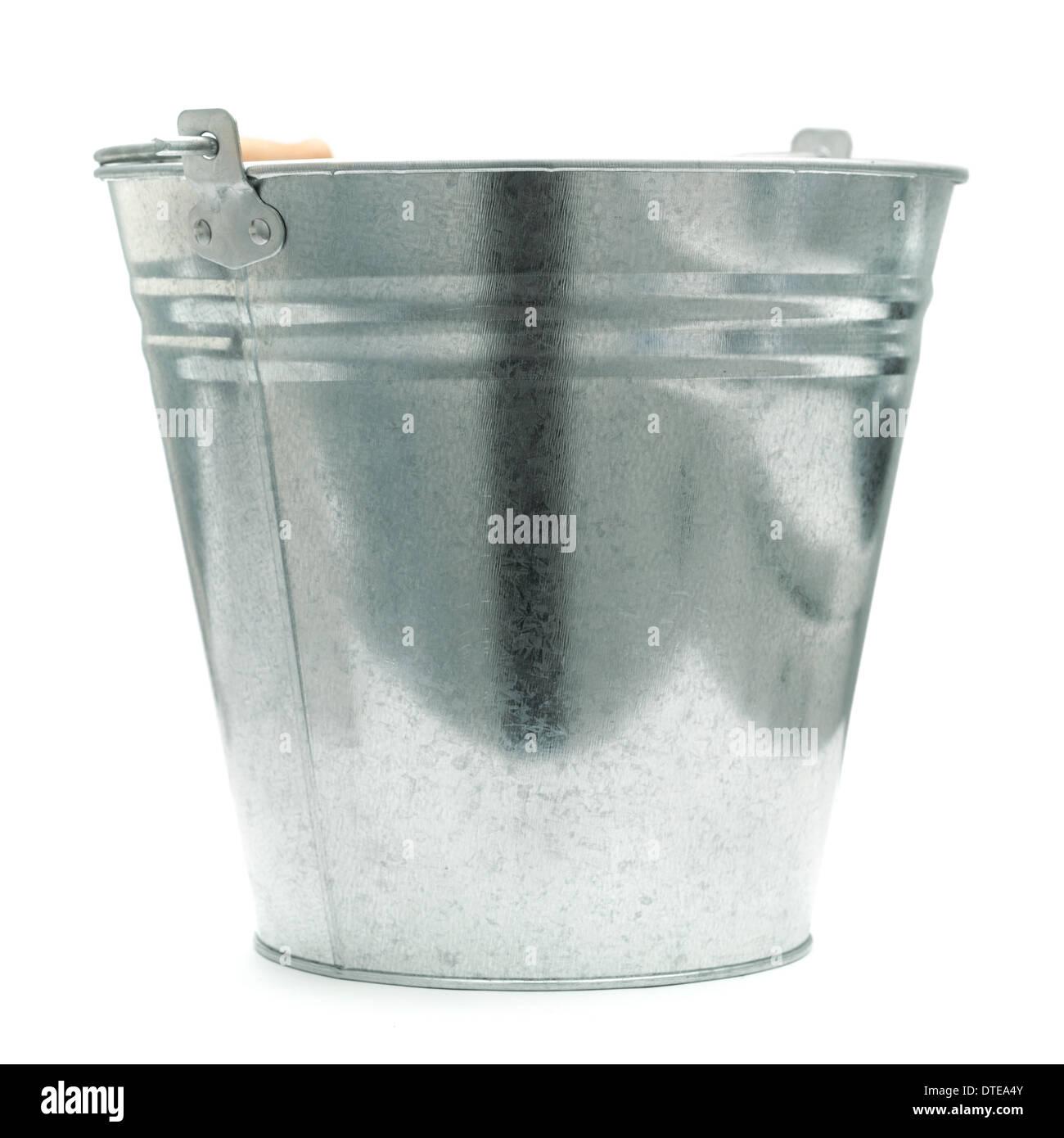 bucket isolated on white - Stock Image