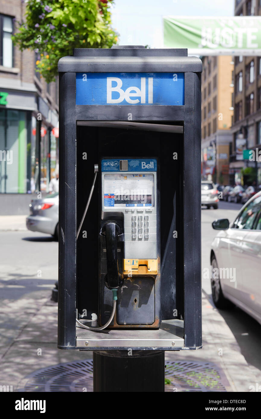 Bell public phone, Montreal, province of Quebec, Canada