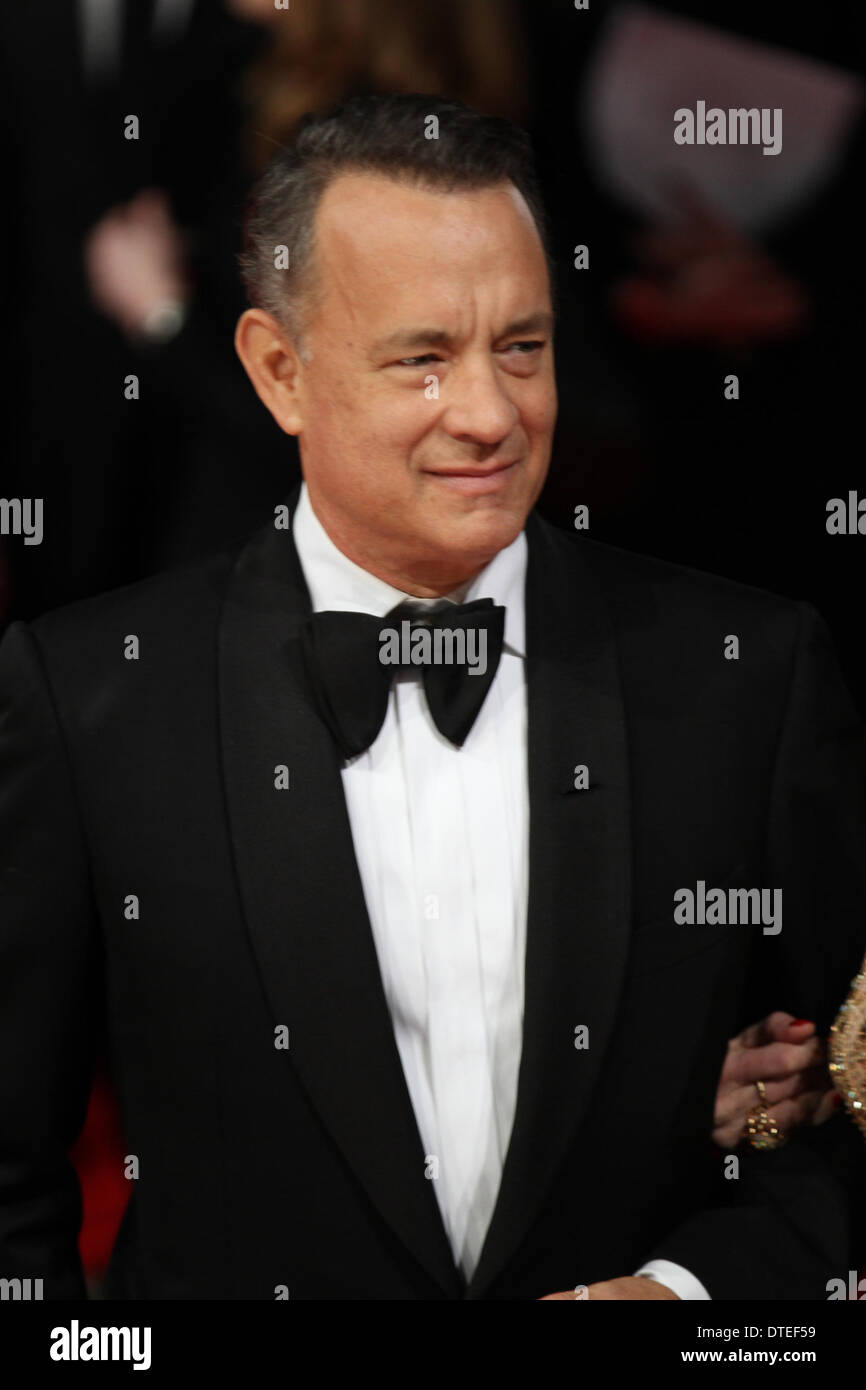 London, UK, 16th February 2014. Tom Hanks and Rita Wilson attend the EE British Academy Film Awards 2014 at The Royal Opera Hous - Stock Image