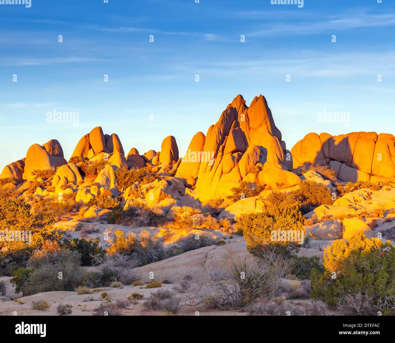 Rocks in Joshua Tree National Park - Stock Image