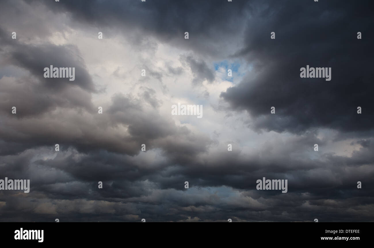 Natural background: stormy sky - Stock Image