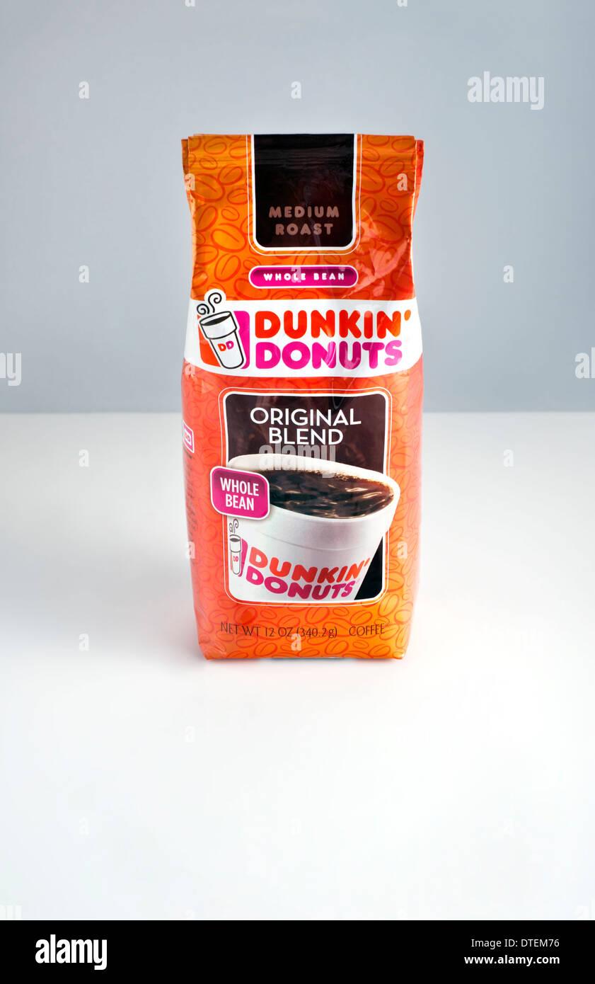Dunkin Donuts brand coffee - Stock Image