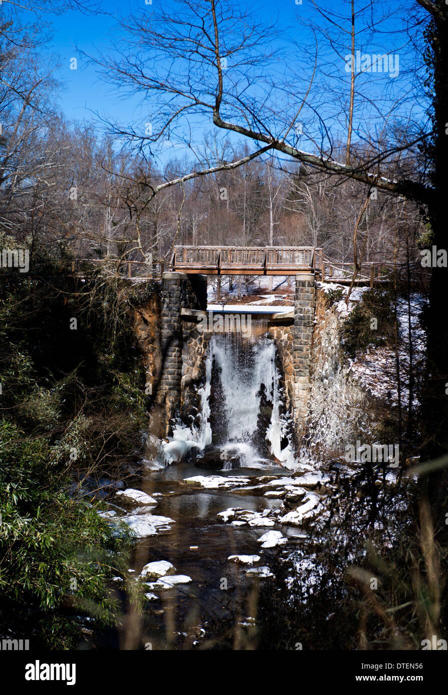 Winter Scene at the Biltmore Mansion Grounds, Asheville, North Carolina - Stock Image