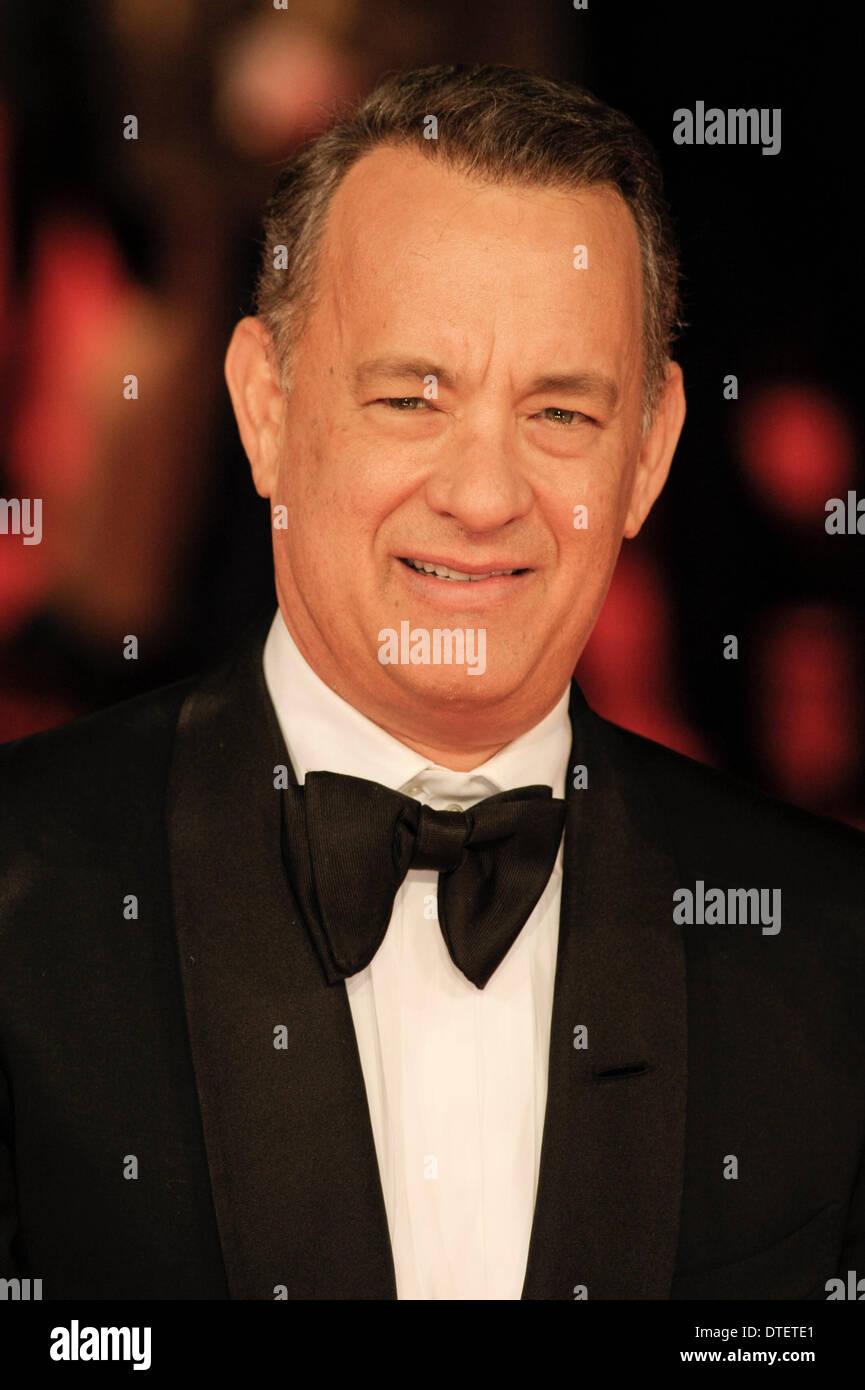 London, UK, 16/02/2014 : Red Carpet Arrivals at the EE British Academy Film Awards. Persons Pictured: Tom Hanks. Picture by Julie Edwards - Stock Image