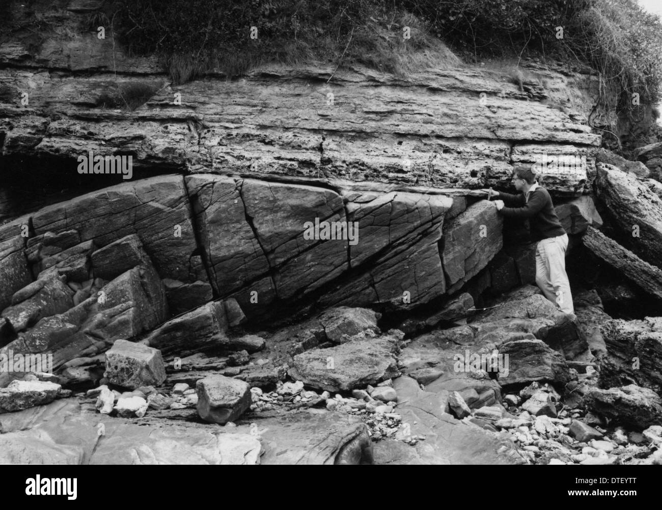 Triassic and Devonian rocks - Stock Image