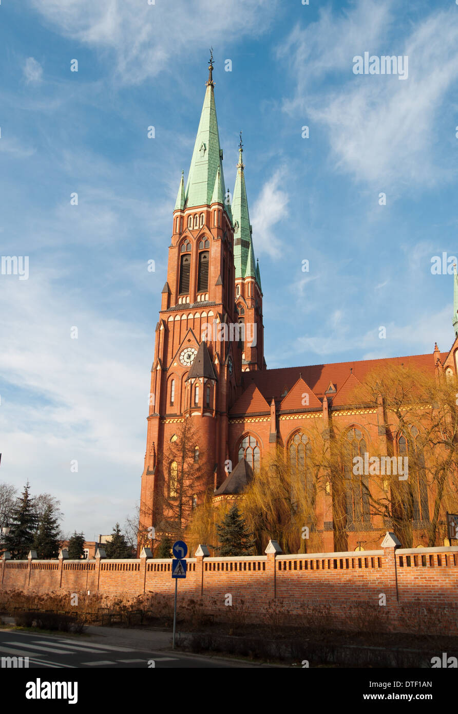 Saint Antoni's basilica in Rybnik in Silesia - Poland Stock Photo