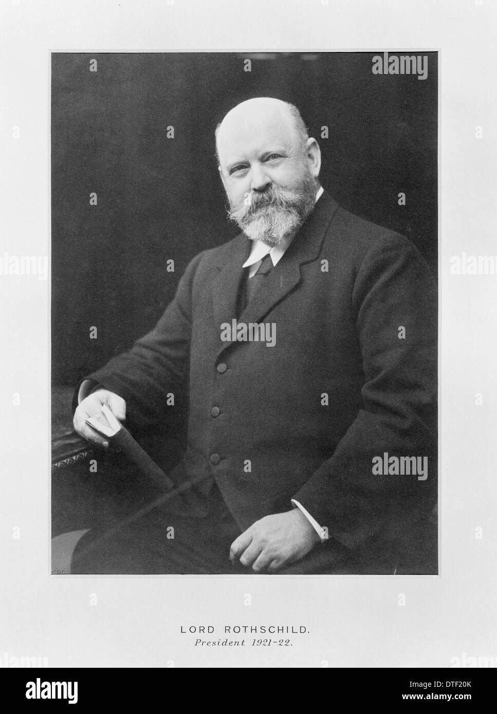 Lord Lionel Walter Rothschild (1868-1937) Stock Photo