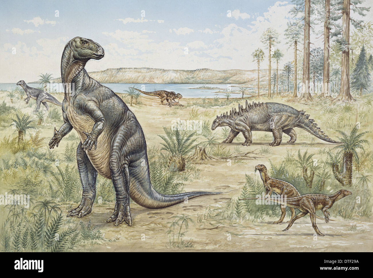 Lower Cretaceous dinosaurs discovered in England - Stock Image