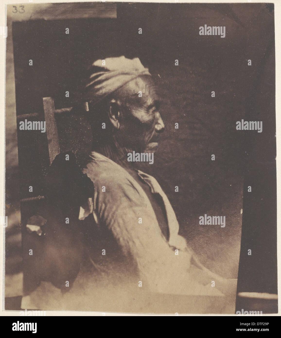 A Hayu or Vayu of Nepal, age 60, c.1840 - Stock Image