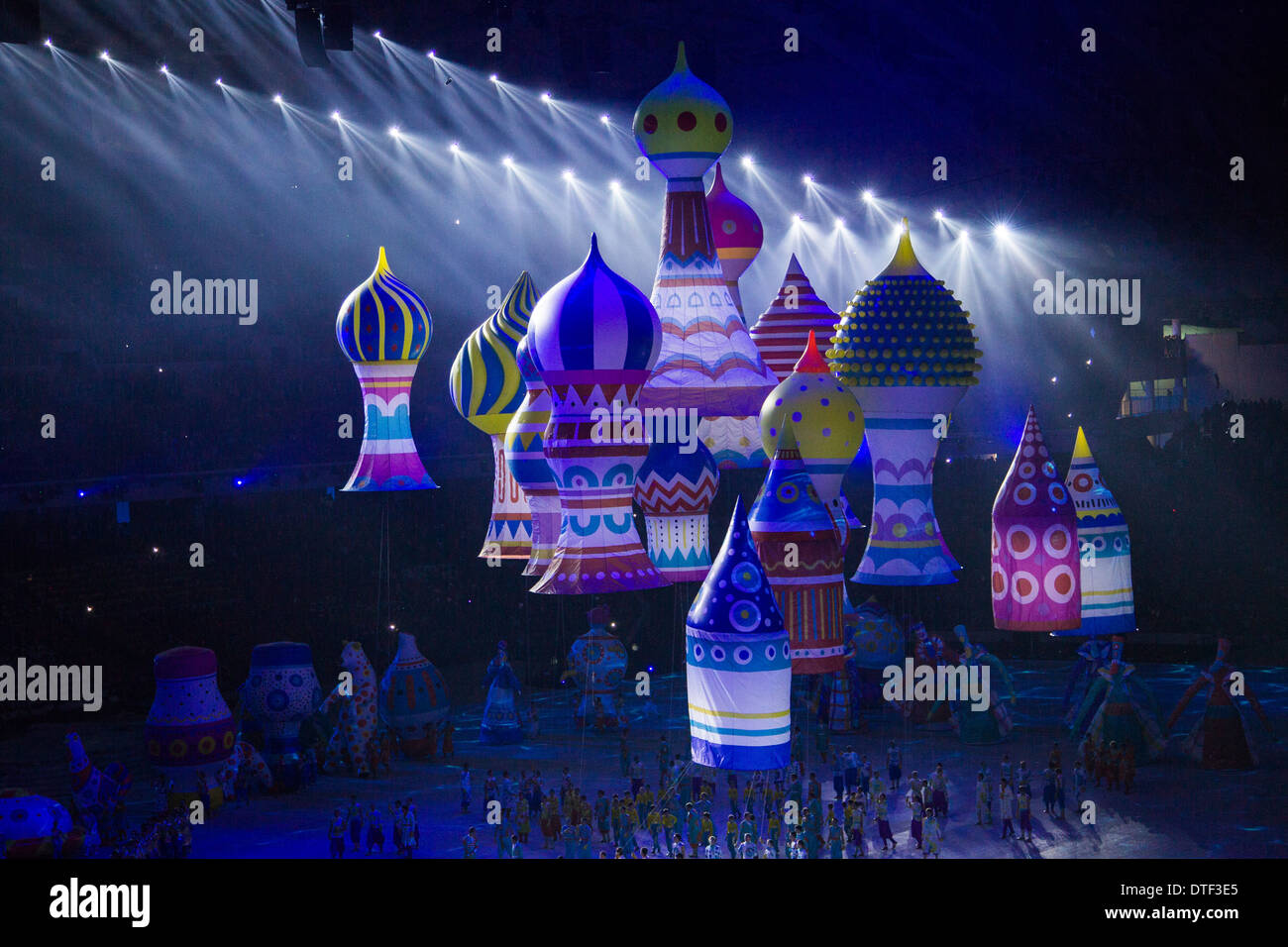 Opening Ceremonies at the Olympic Winter Games, Sochi 2014 - Stock Image
