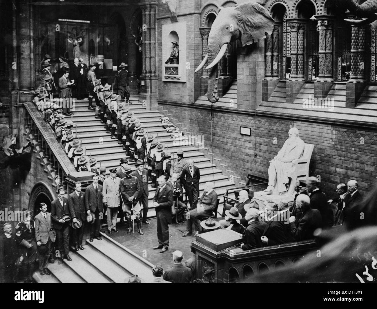 Unveiling Selous memorial, June 1920 - Stock Image
