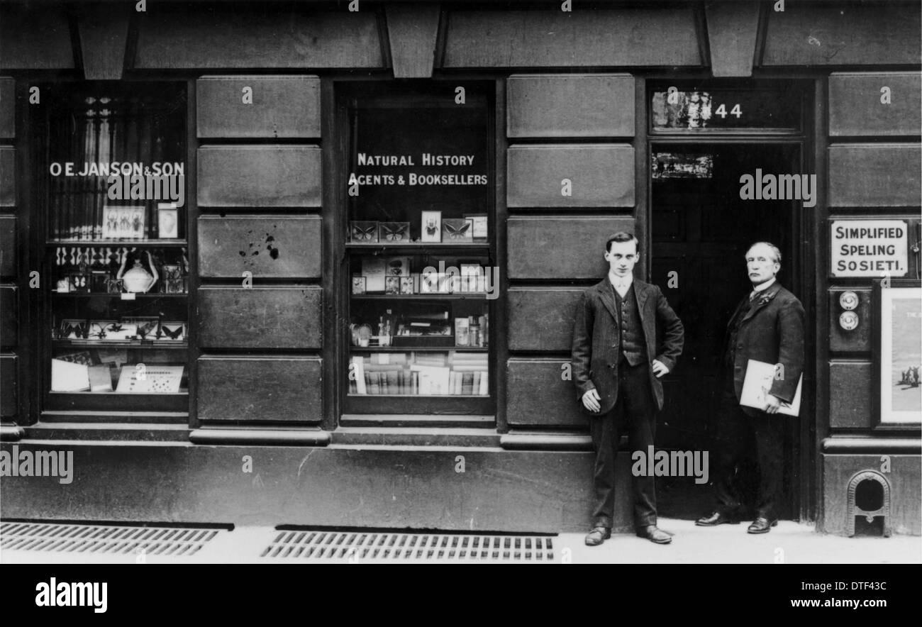 O. E. Janson & Son Business Premises - Stock Image