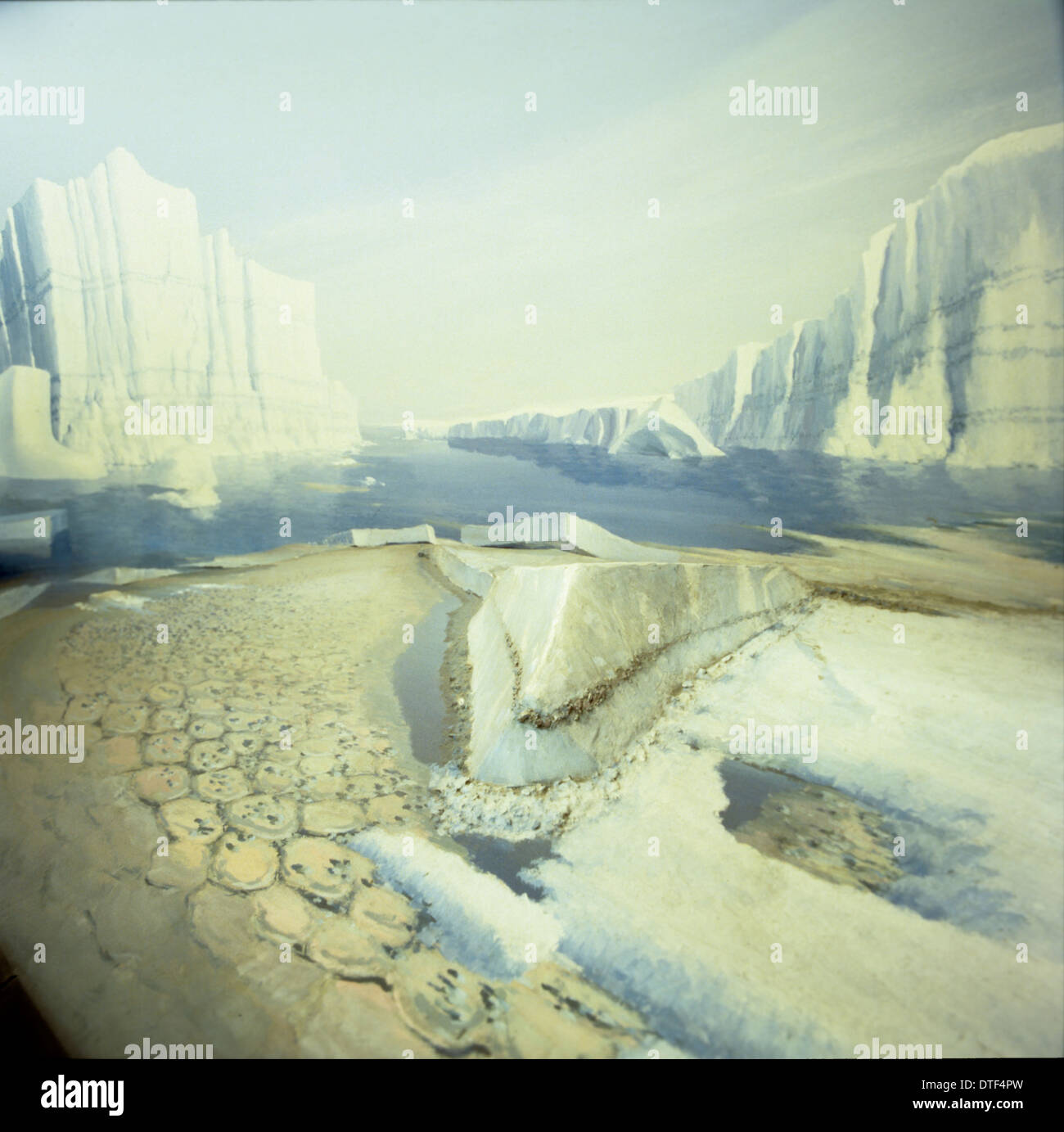 Ice age Britain - Stock Image