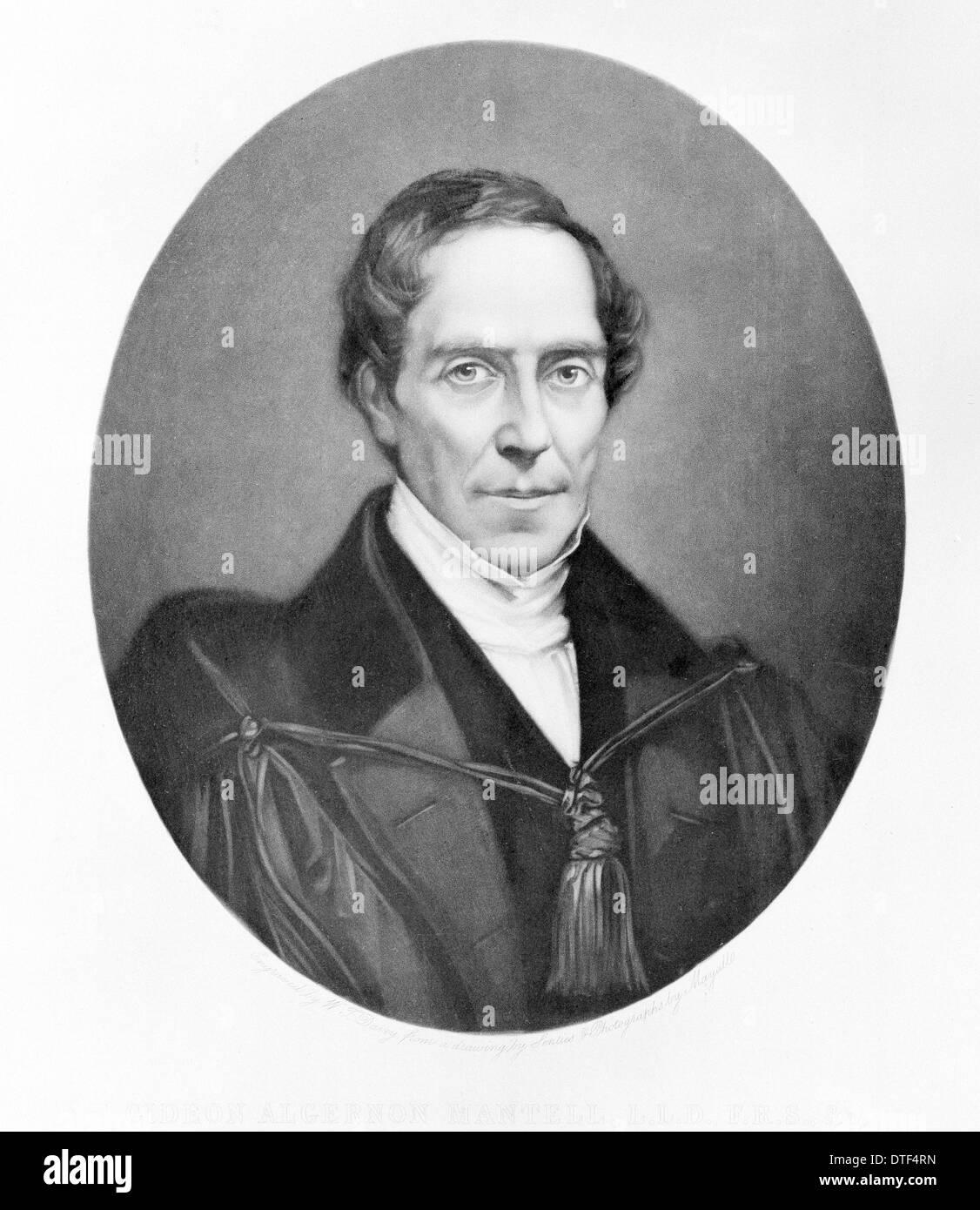 Dr Gideon Algernon Mantell (1790-1852) - Stock Image