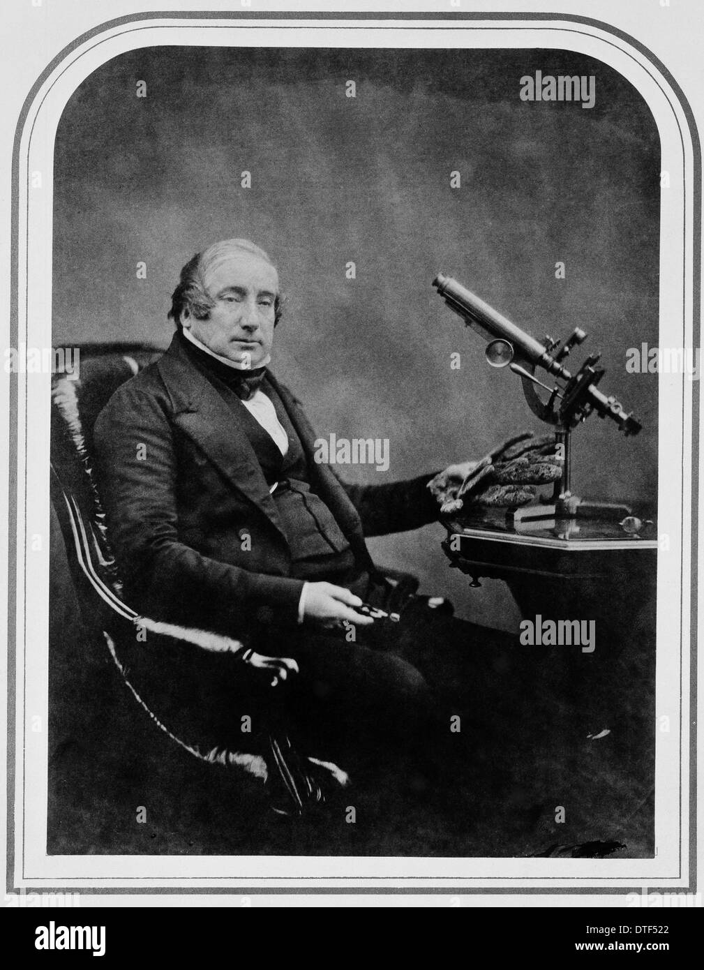 Dr James Scott Bowerbank (1797-1877) Stock Photo