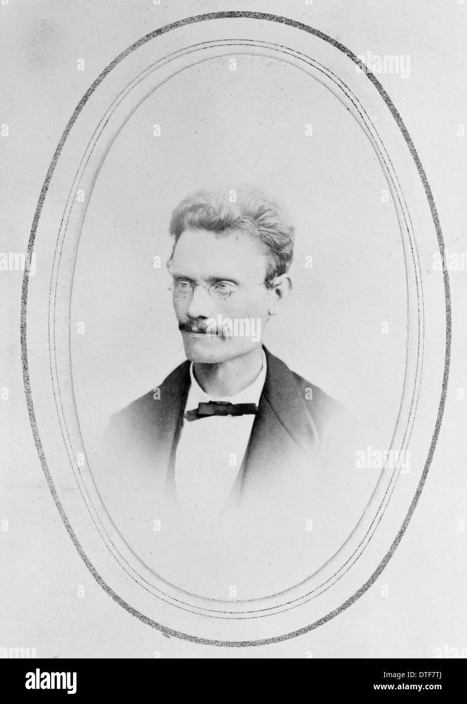 Sextus Otto Lindbert (1835-1889) - Stock Image