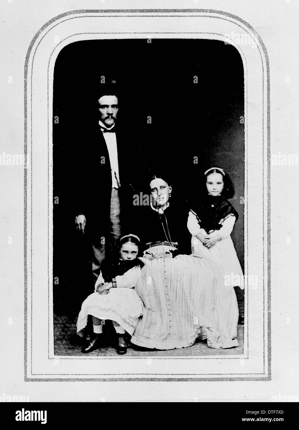 J.R. Jackson and family - Stock Image