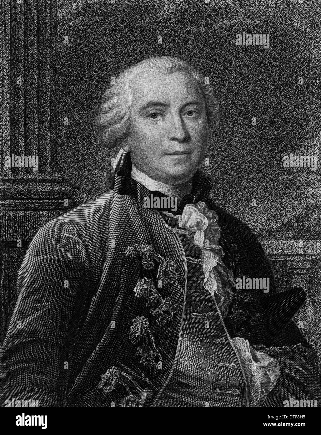 Count Georges Louis Leclerc de Buffon (1707-1788) - Stock Image