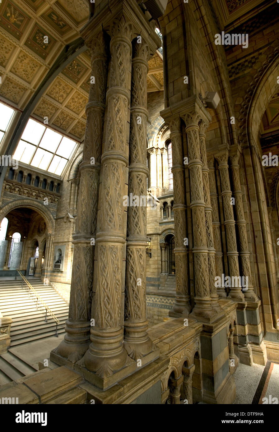 Architectural features of the Main Hall - Stock Image