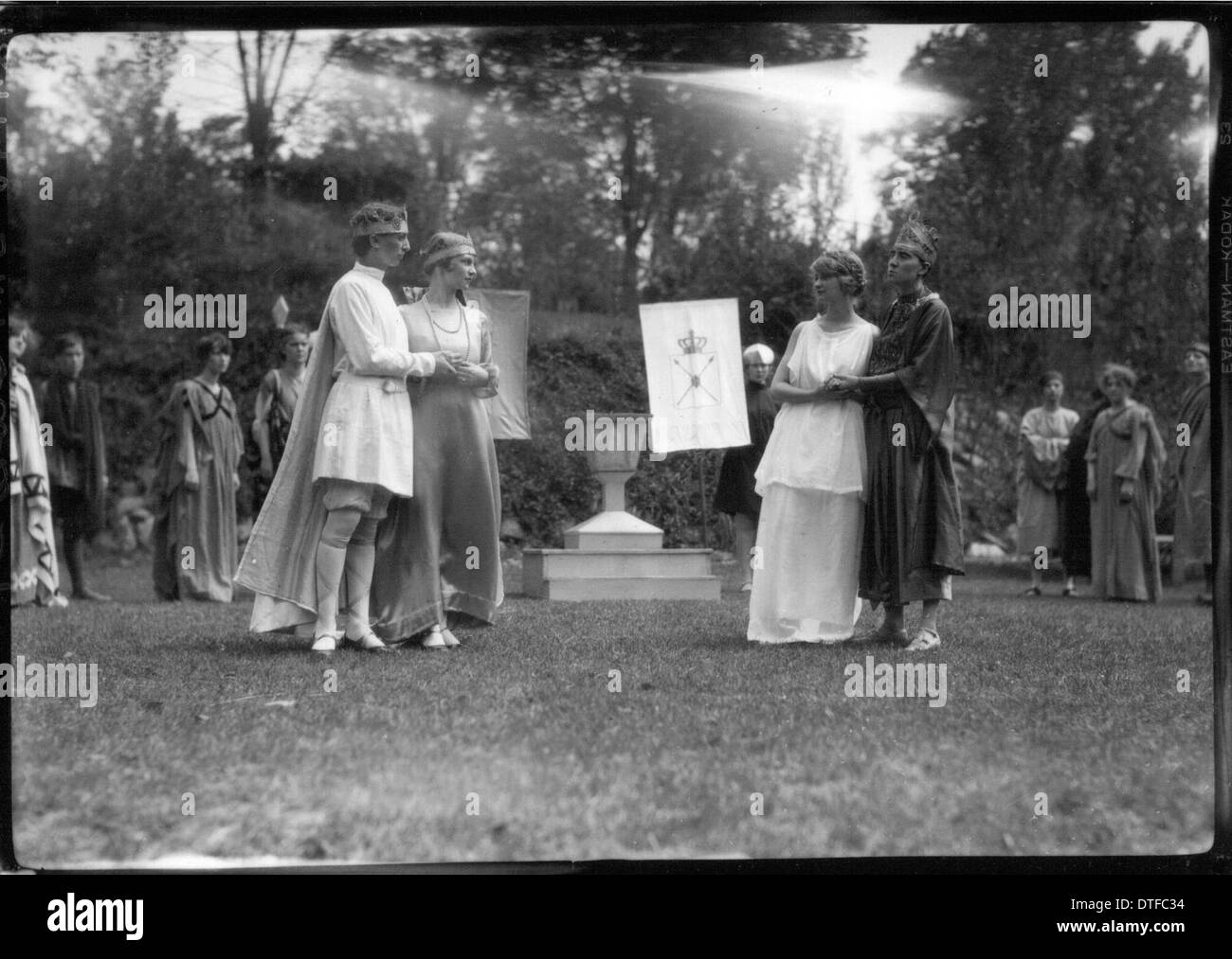 Western College on Tree Day 1927 - Stock Image