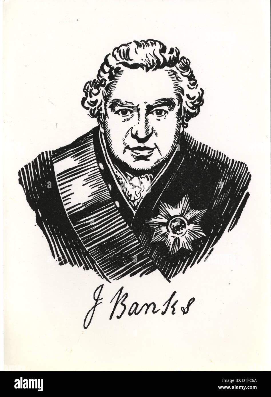 Sir Joseph Banks (1743-1820) - Stock Image