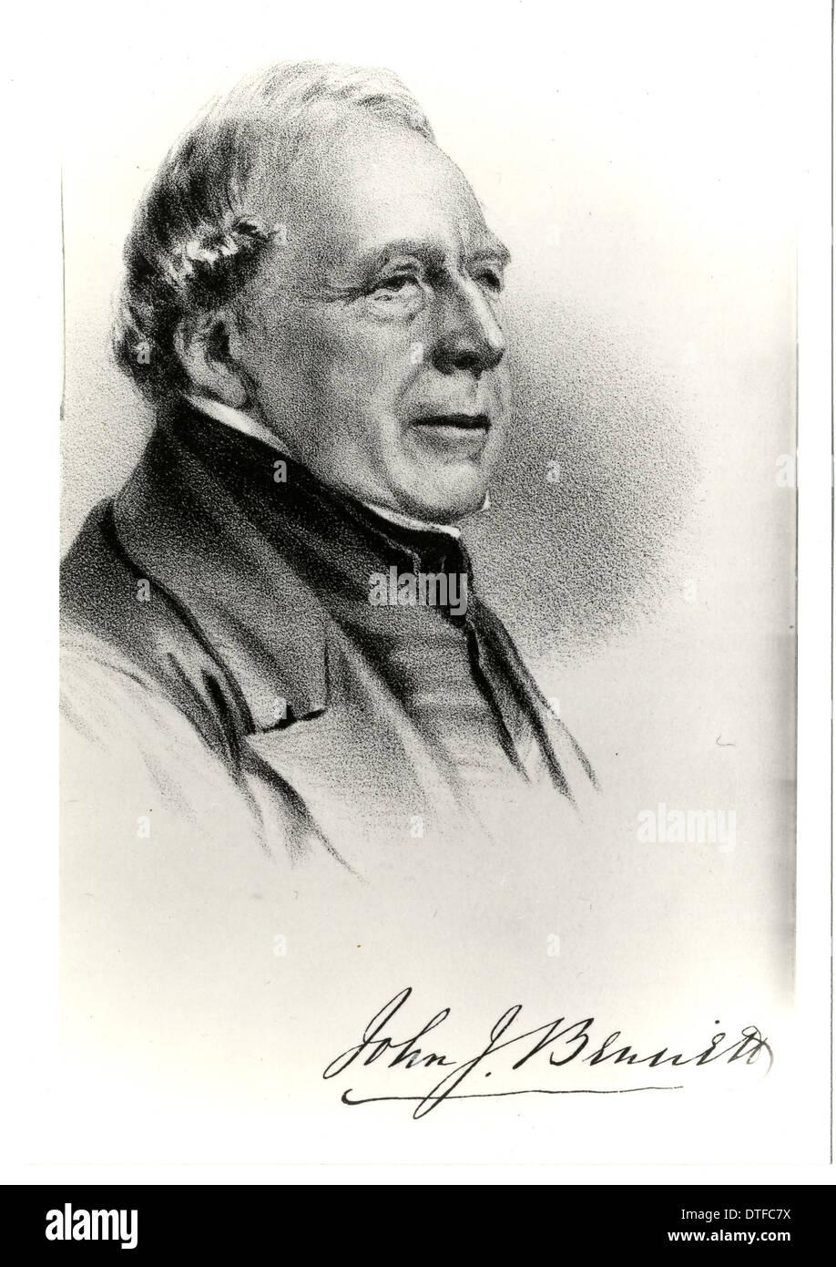 John Joseph Bennett (1801-1876) - Stock Image