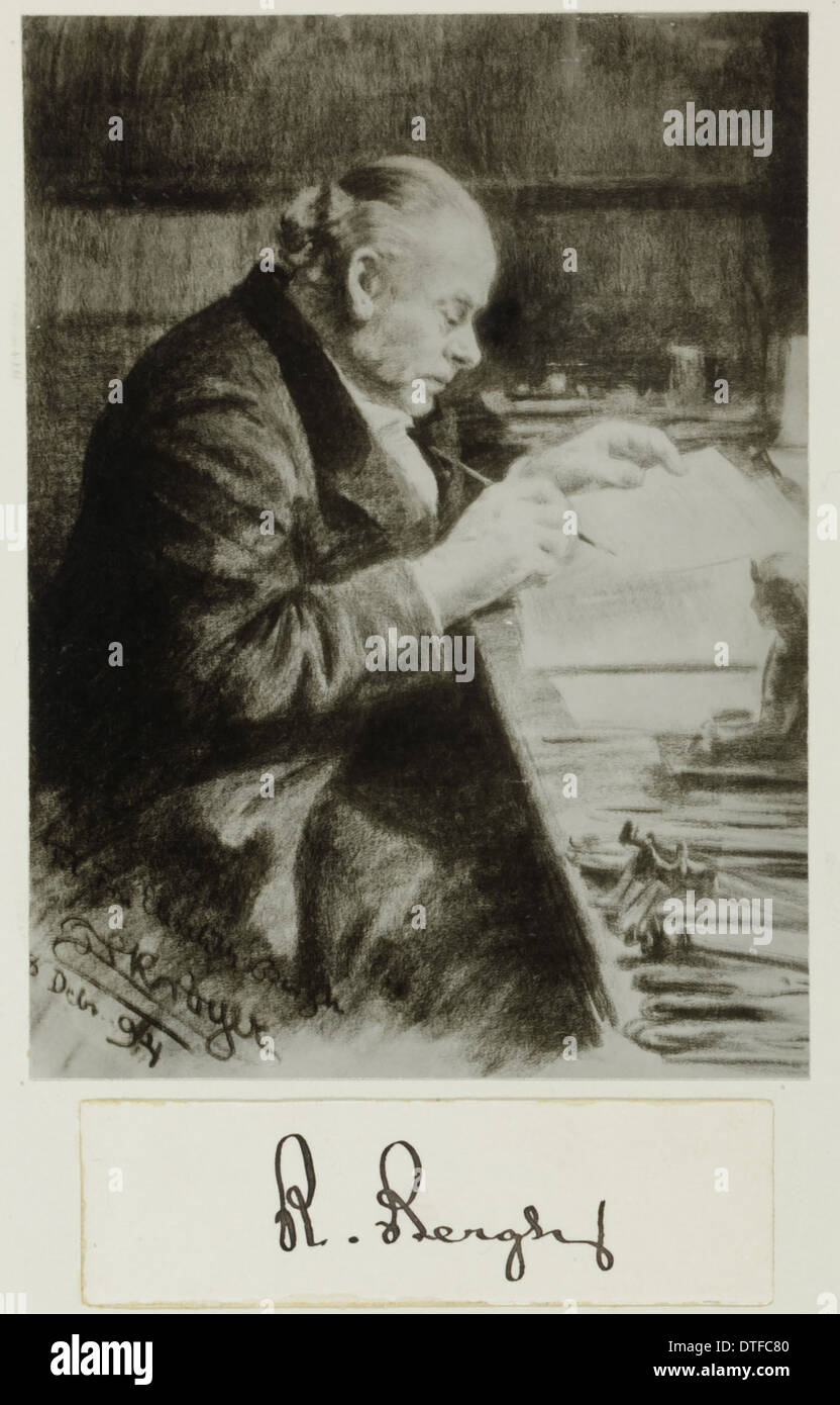 Rudolph Bergh (1824-1909) - Stock Image