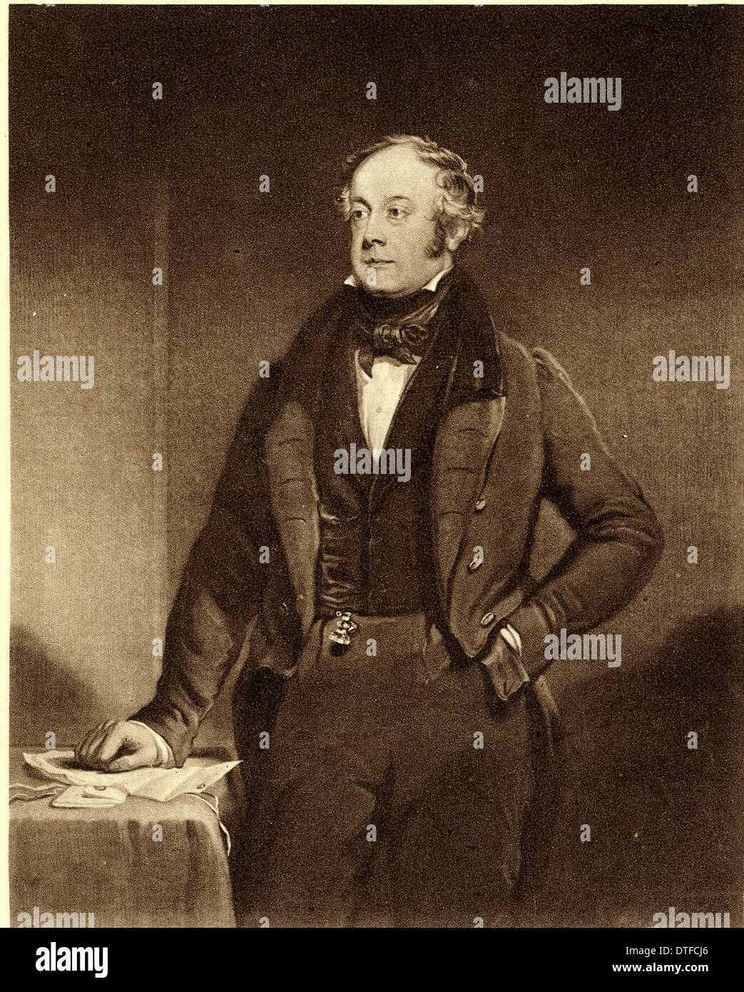 Sir George Clerk (1787-1867) - Stock Image