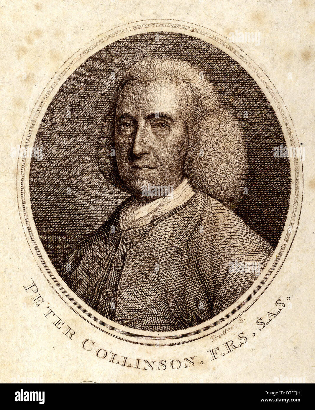 Peter Collinson (1694-1768) - Stock Image