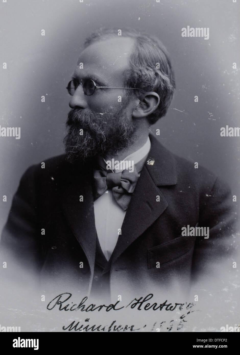 Sir Richard Karl Wilhelm Theodor von Hertwig (1850-1937) - Stock Image