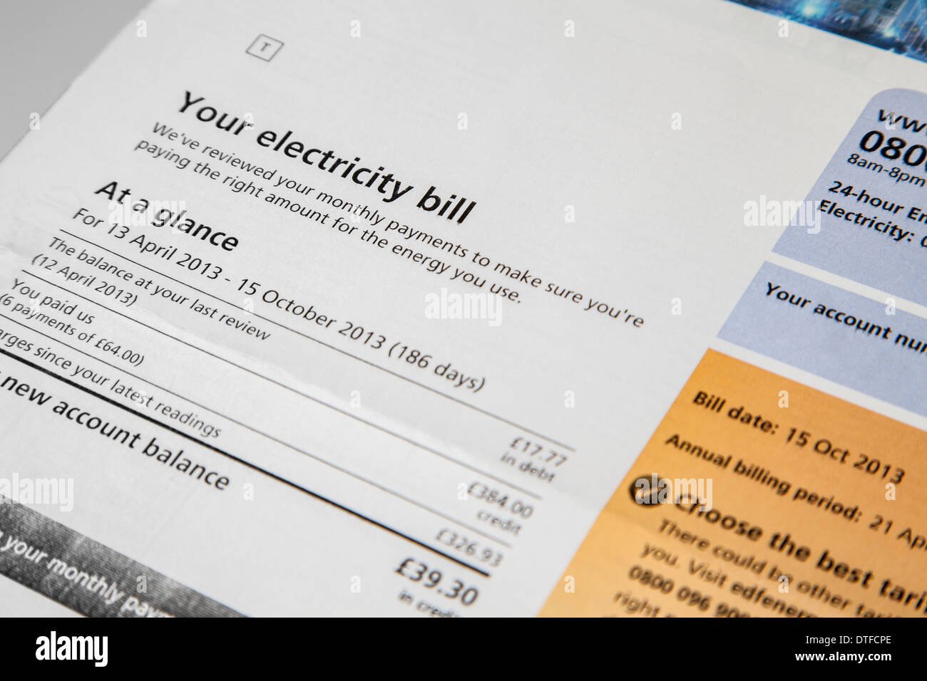 electricity bill stock photos electricity bill stock. Black Bedroom Furniture Sets. Home Design Ideas