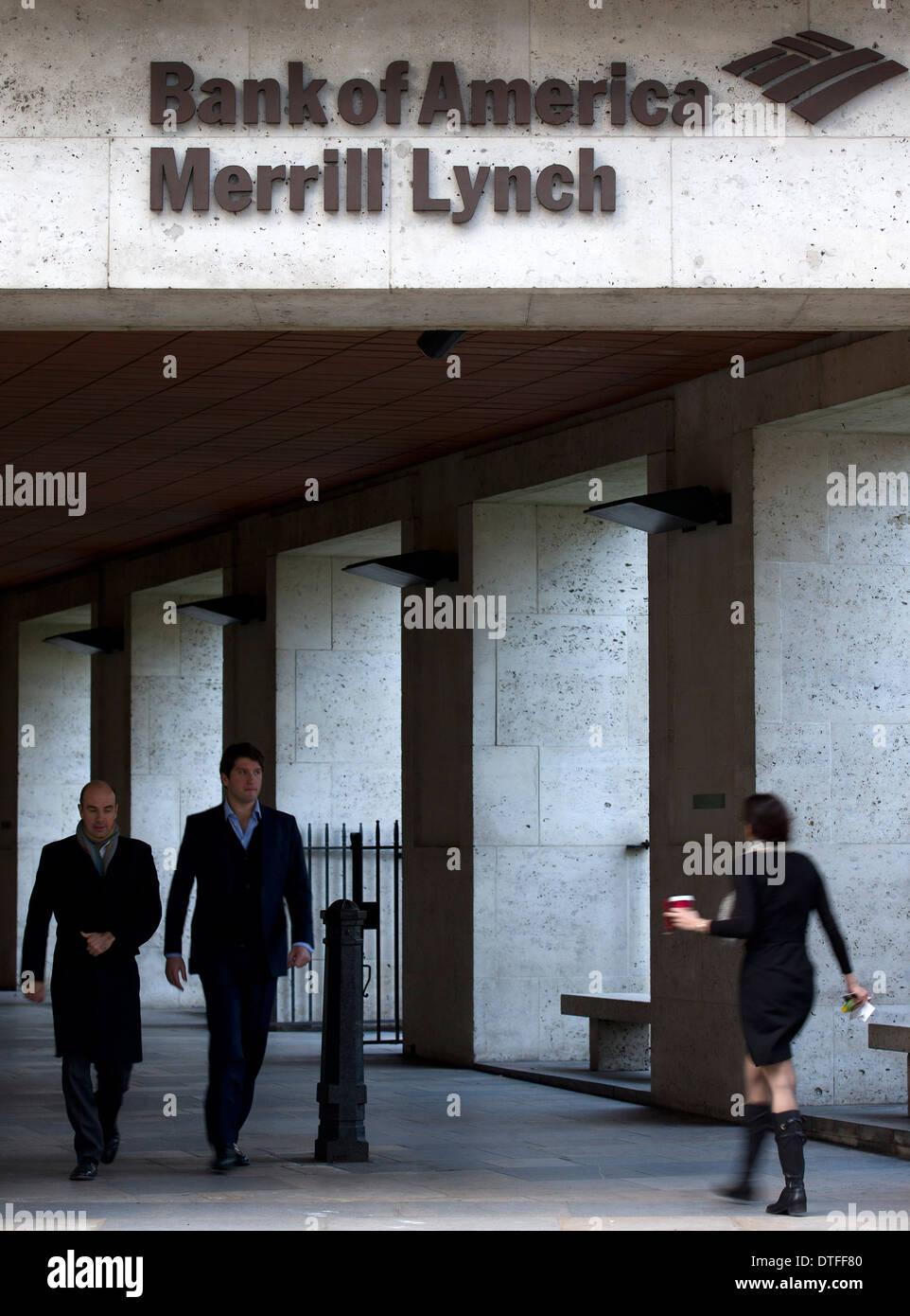 United Kingdom, London : Bank of America Merrill Lynch in the City of London. - Stock Image